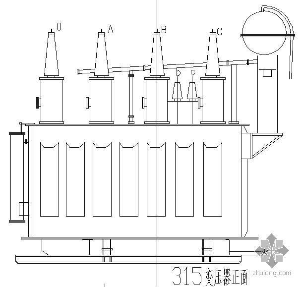 变电站电气设备一次安装图