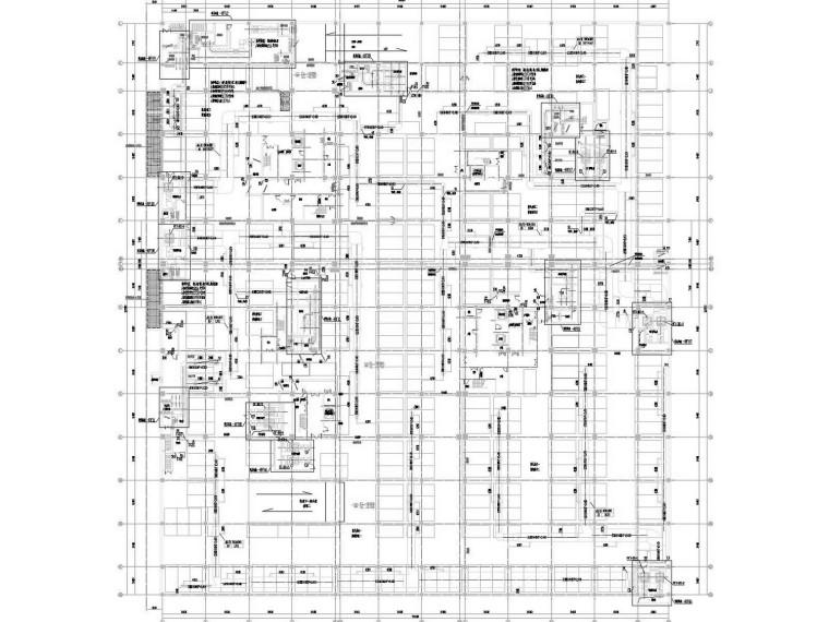 地下车库通风人防排烟系统设计施工图