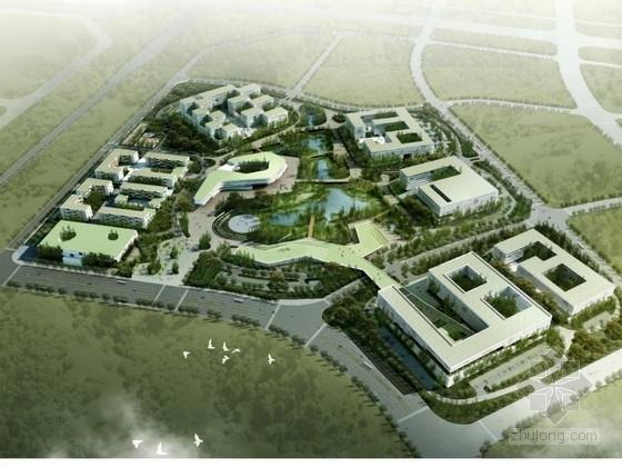 [江西]园中园空间结构向心软件产业园建筑设计方案文本