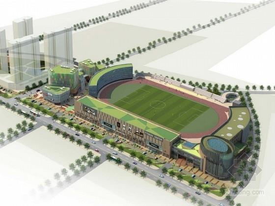 [山东]4层大型体育场建筑设计方案文本