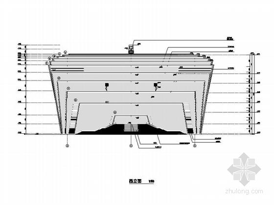 省级大剧院建筑立面图