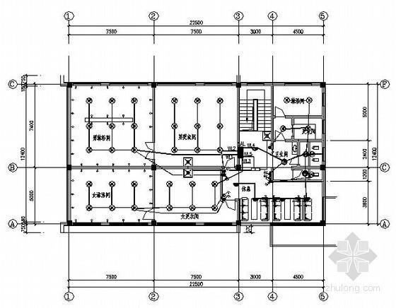某二层浴池电气设计图纸