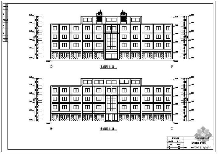 [学士]某办公楼毕业设计(含计算书、建筑结构设计图)