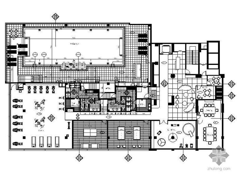 [上海]1000平米休闲会所施工图(带游泳池)