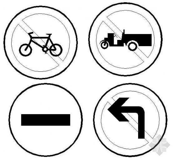 CAD格式交通标志牌