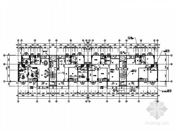 [海南]现代风格高层保障性住房建筑规划设计施工图-现代风格高层保障性住房建筑平面图