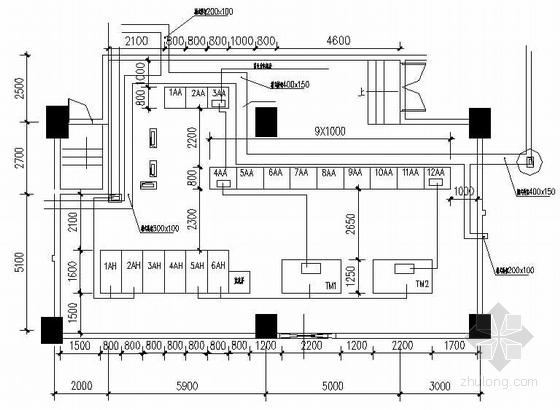 某商业中心配电室电气图