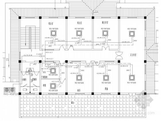 [江苏]行政服务区舒适型空调系统设计施工图(结构形式多)