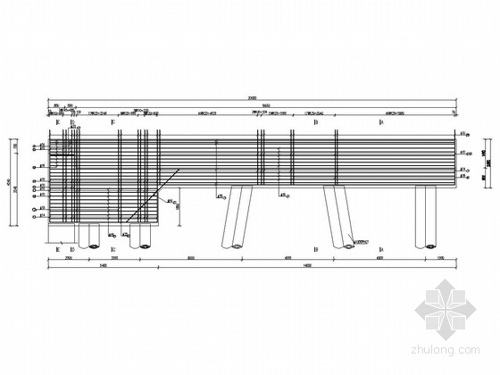 [河南]三千吨兼靠五千吨杂货高桩码头工程施工图65张