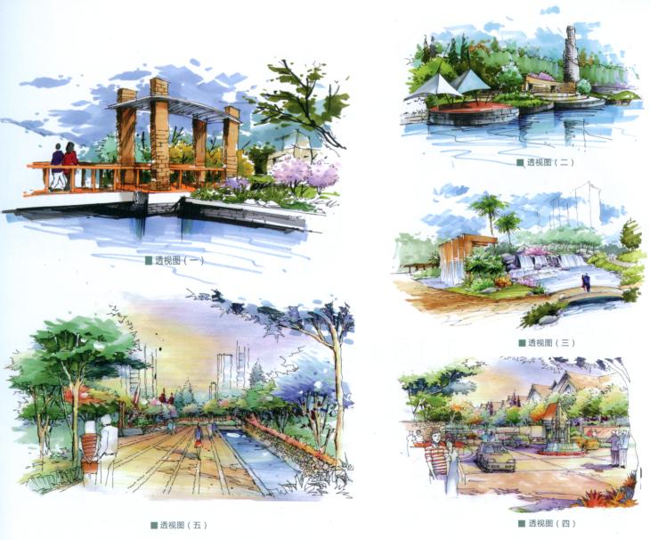 景观考研高分快题300例精选高清景观手绘