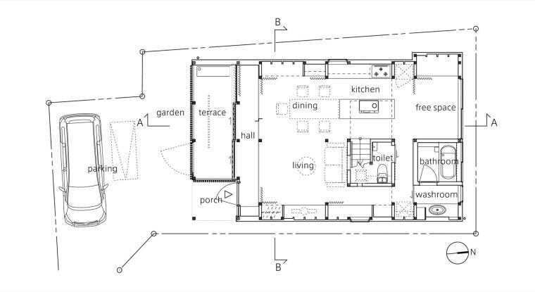 日式风格暖色调室内设计施工图(附实景照片)19页
