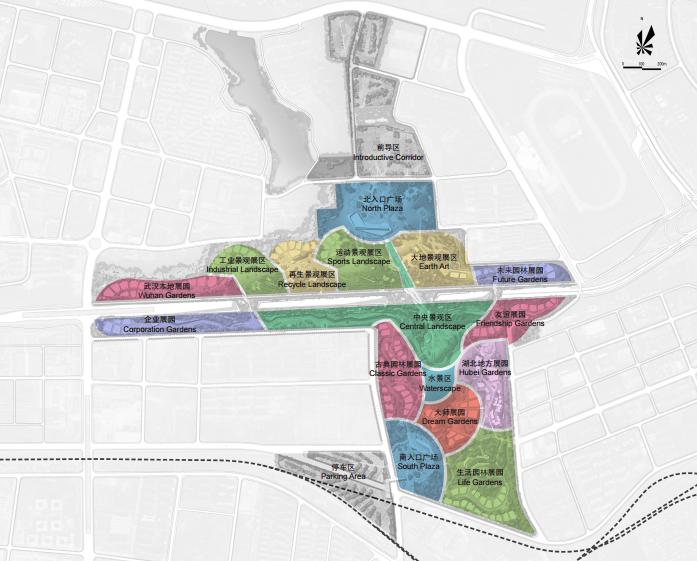 [湖北]武汉园博会景观规划设计方案文本-[湖北]武汉园博会景观规划设计文本 A-7功能分区