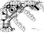 某小区绣江南屋顶花园全套施工图平面图
