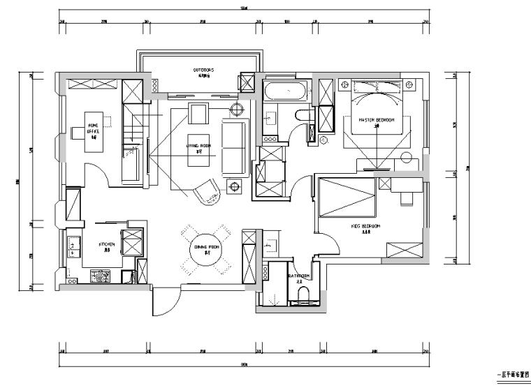 春江彼岸|现代艺术蓝色优雅住宅设计施工图(附效果图)