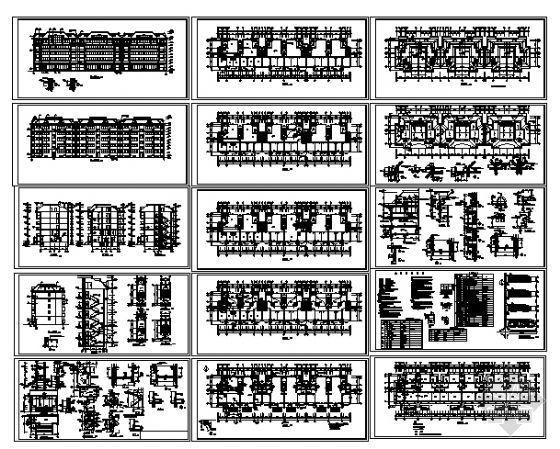 某五层住宅楼建筑施工图-4