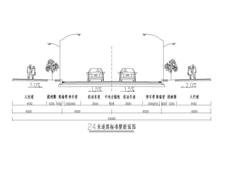 重庆市城市次干道道路工程施工图设计64张