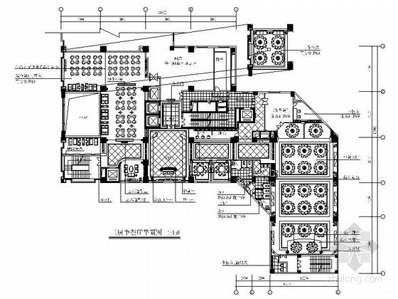 [广东]豪华酒店中式餐厅装修施工图