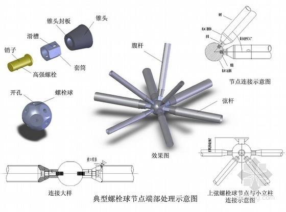 [浙江]基地厂房钢网架结构屋盖施工方案(螺栓球节点)