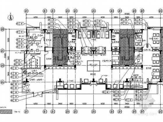[广东]高新区别墅洋房现代典雅风格售楼部室内装修施工图(含效果)