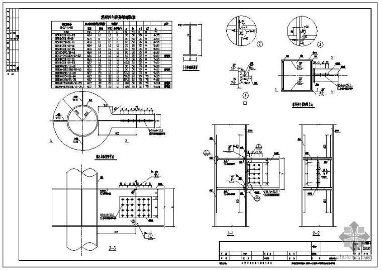 某钢框架钢梁与钢柱连接节点构造详图