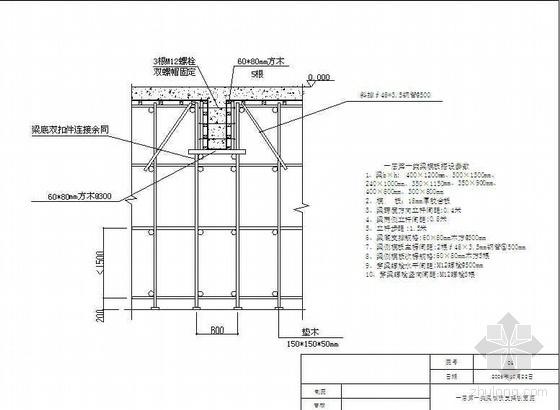 浙江某办公楼高支模专项施工方案(满堂扣件式钢管脚手架)