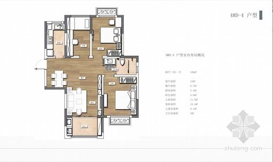 [合肥]88平米简约雅致样板间室内设计方案