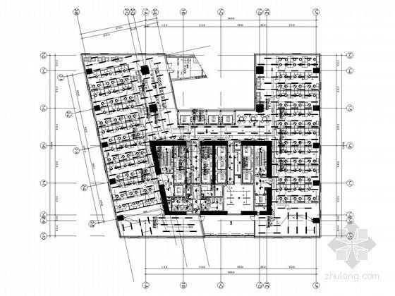 [广东]知名超高层办公大楼强弱电施工图纸300张(180米)