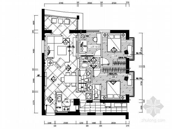 [厦门]港式两居室设计装修图