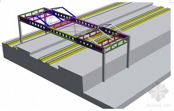 某站房无台柱雨棚钢结构、金属屋面施工组织设计(箱型柱焊接)