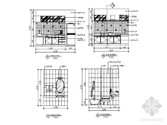 厨房及卫生间主立面图