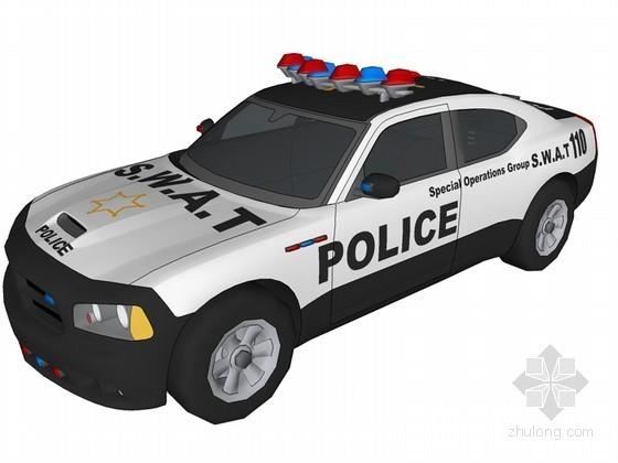 警用车SketchUp模型下载
