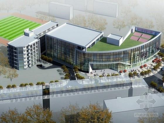 [上海]六层体育馆建筑设计方案(含CAD)