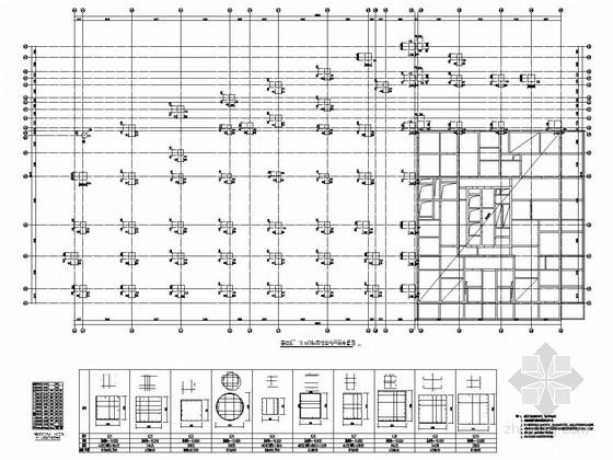 [四川]地上六层框架结构商业楼结构施工图(地下三层)