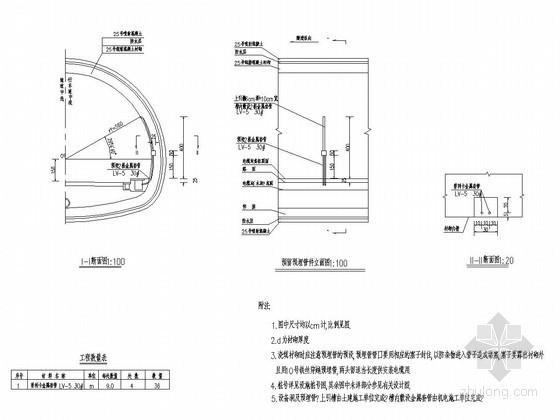 隧道亮度检测器与风向风速仪预留预埋管件设计图