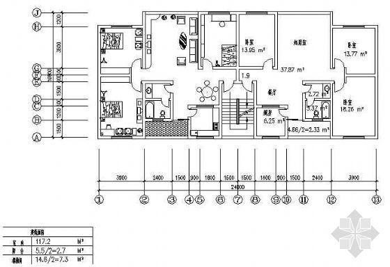 三室两厅一厨一卫117平米