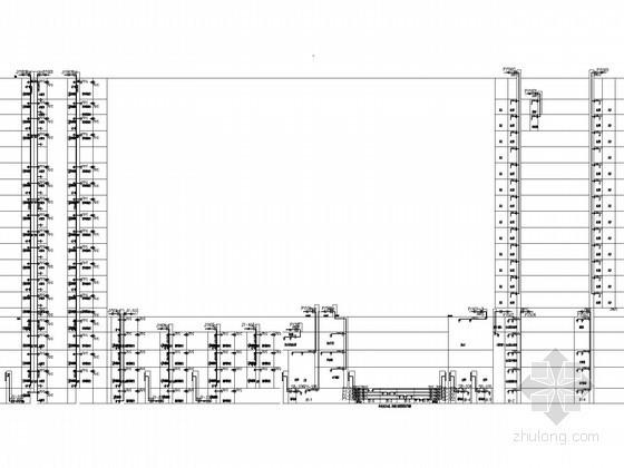 [湖南]商业广场五星酒店空调通风及防排烟系统设计施工图(供暖设计)