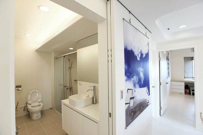 95平简约二居客厅背景墙电视墙设计效果图_7