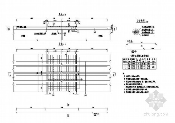 2×13米预应力混凝土空心板桥面连续钢筋构造节点详图设计