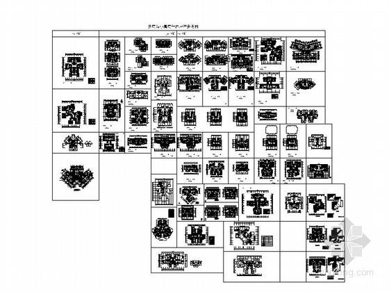 [合集]多层与小高层户型平面图