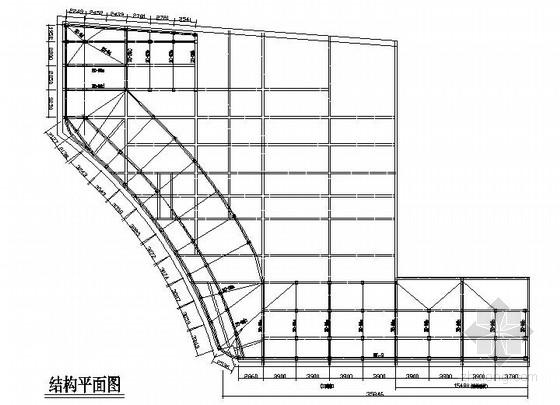楼顶(三面翻)钢桁架广告牌结构施工图