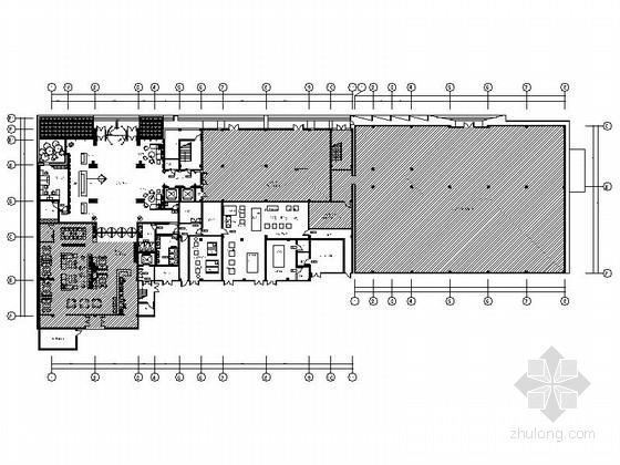 [北京]简约欧式酒店改造项目装修CAD施工图(含效果图)