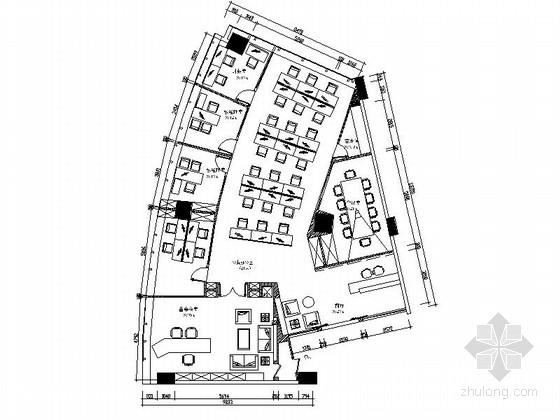 [深圳]高档金融机构现代风格办公室室内装修施工图(含效果)