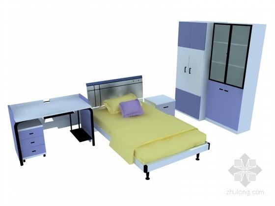 简洁儿童家具3D模型下载