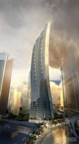 vr建筑渲染教程资料下载-高层商业建筑