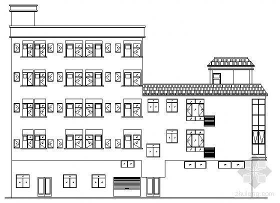 某五层商住楼建筑设计方案图