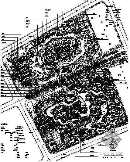[湖北武汉]某别墅区环境景观设计平面图
