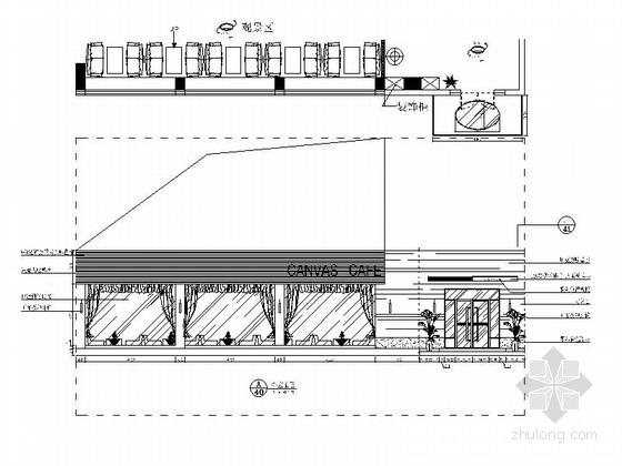 [原创]武汉迷幻炫酷主题咖啡厅施工图立面图