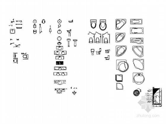 全套工装室内图块CAD图块下载