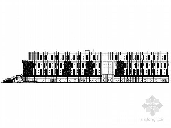 [四川]五层浅灰色铝板表皮商业综合楼建筑施工图