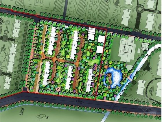 [威海]欧式新古典设计风格居住区景观设计方案
